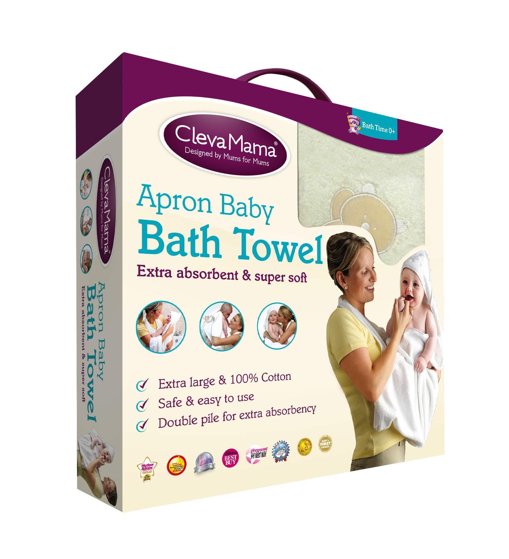 Clevamama Splash and Wrap Apron Bath Towel
