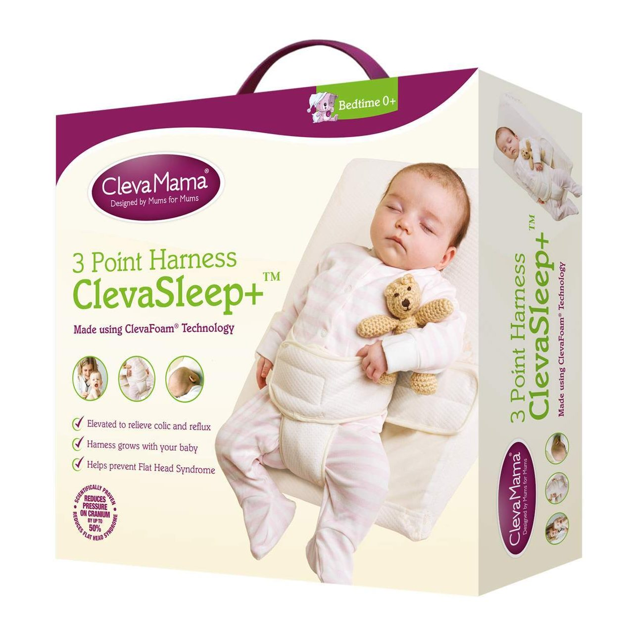 newest 5a263 9e7bf ClevaMama ClevaSleep 3 Point Harness Sleep Positioner