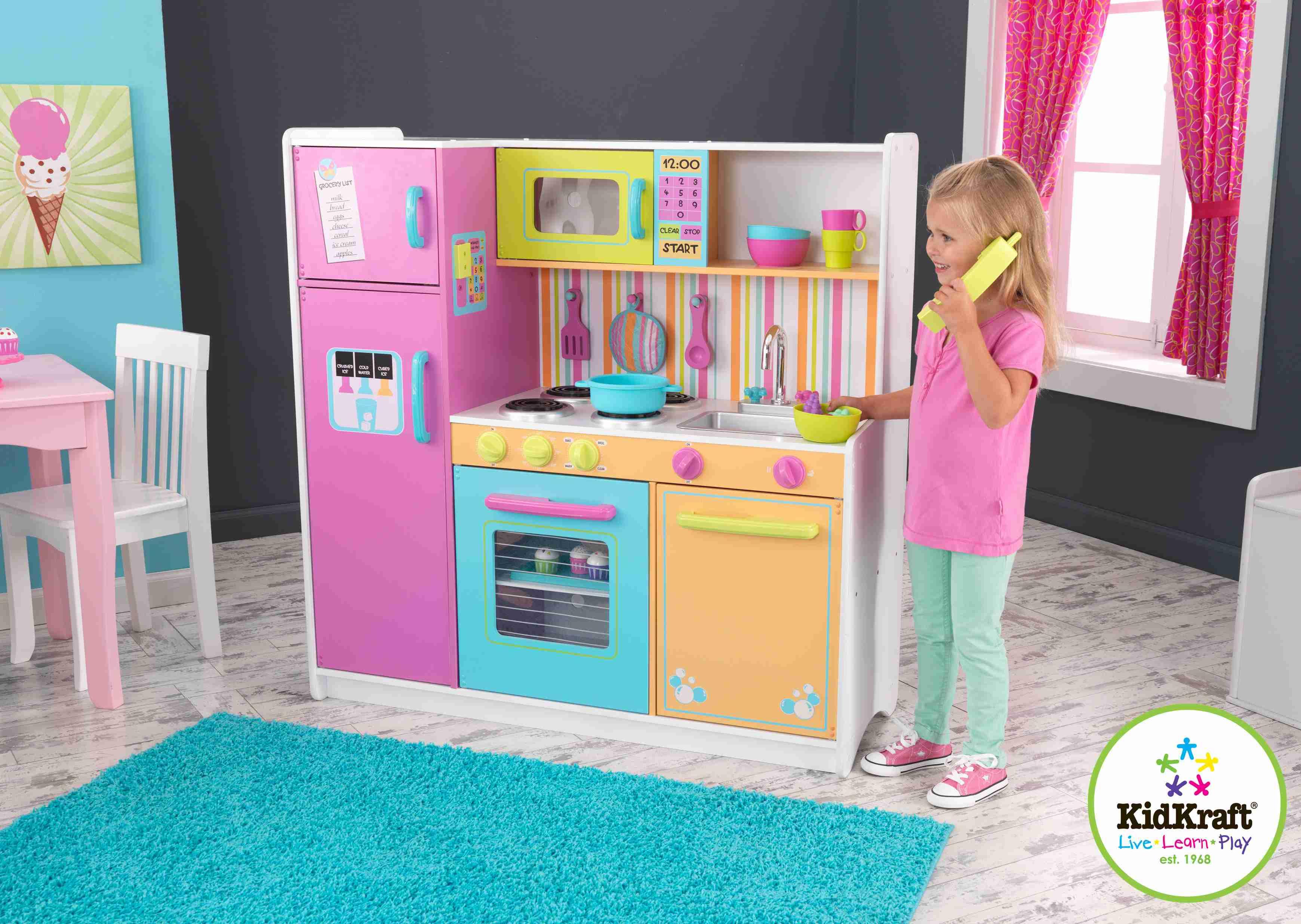 Superior Kidkraft Bright Kitchen Accessories Part - 12: Kidkraft Deluxe Big U0026 Bright Kitchen