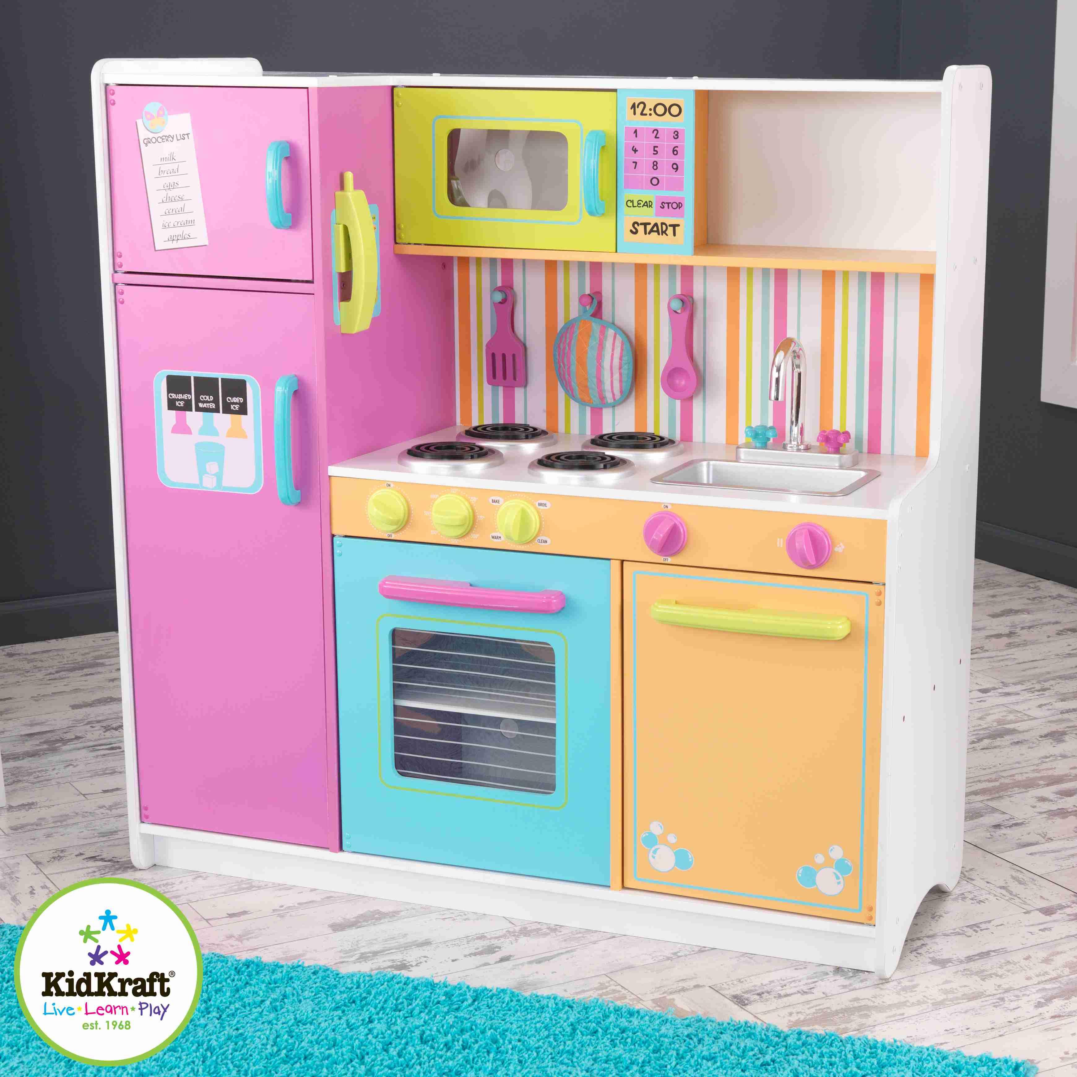 Marvelous Kidkraft Bright Kitchen Accessories Part - 2: Kidkraft Deluxe Big U0026 Bright Kitchen