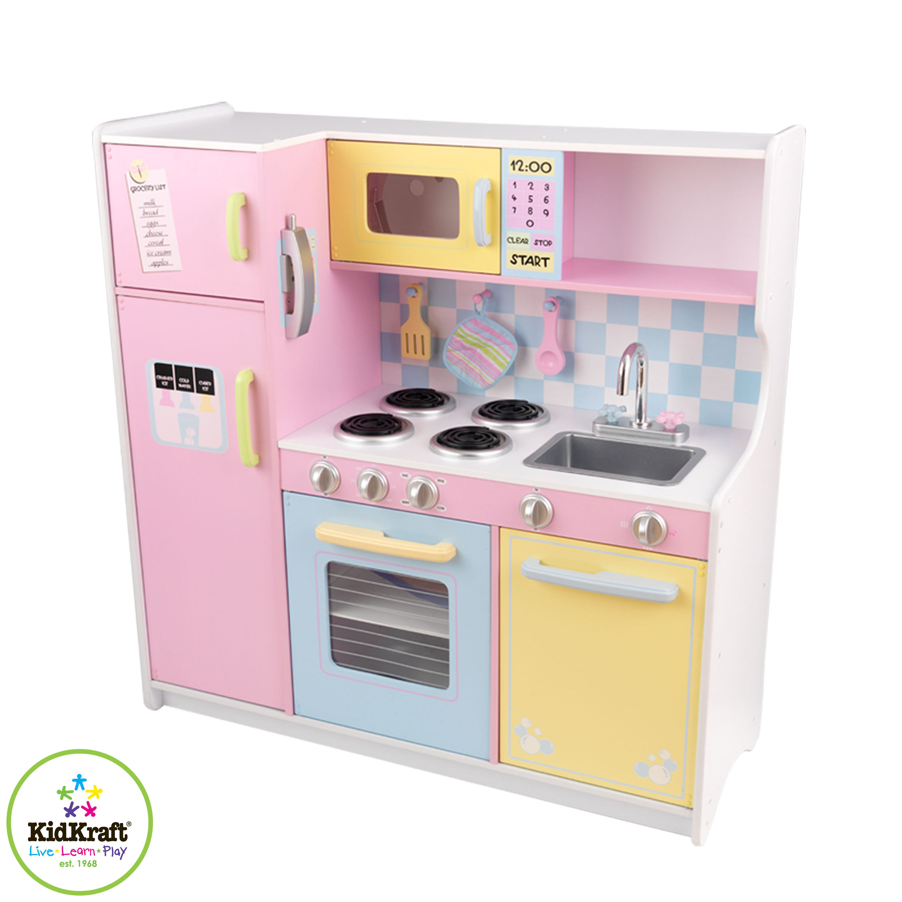 Kidkraft Large Pastel Kitchen Pitter Patter Toys Nursery