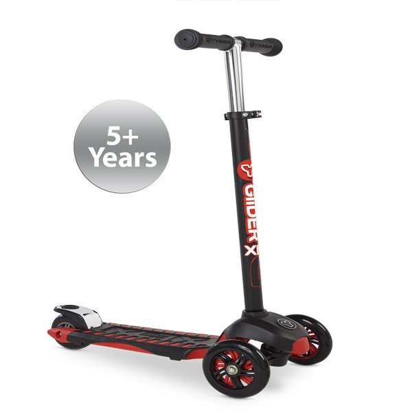 YVolution Glider XL Deluxe Scooter - Black/Red