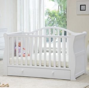 Babylo Sleigh Cotbed - White
