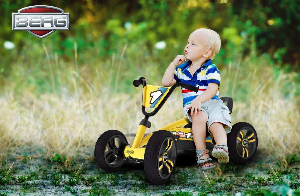 Berg buzzy go kart yellow