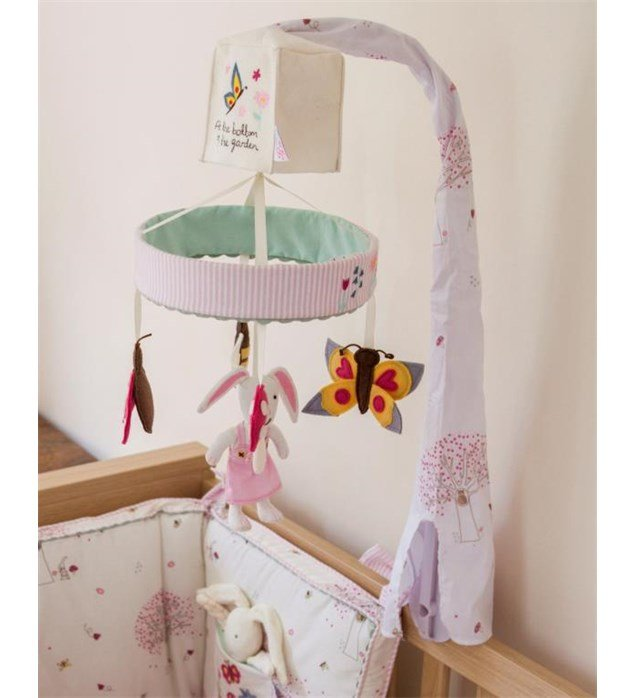 Pink Lining Musical Cot Mobile