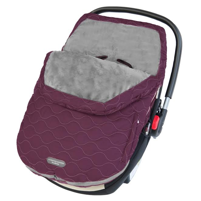 JJ Cole Urban Bundleme Infant Footmuff for Car Seat - Plum Berry