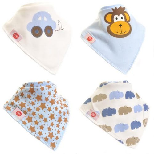 Zippy Bandana Dribbler bibs 4 pack