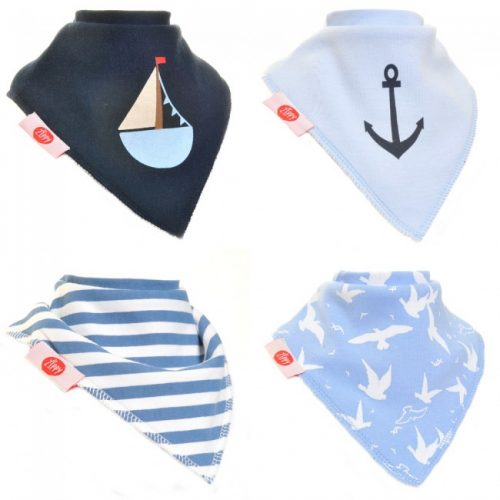 Zippy Baby Boy Bandana Dribble Bib Nautical