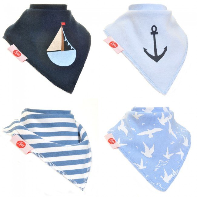 Zippy Baby Boy Bandana Dribble Bib Nautical