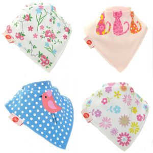 Zippy Baby Girl Bandana Dribble Bib Cool