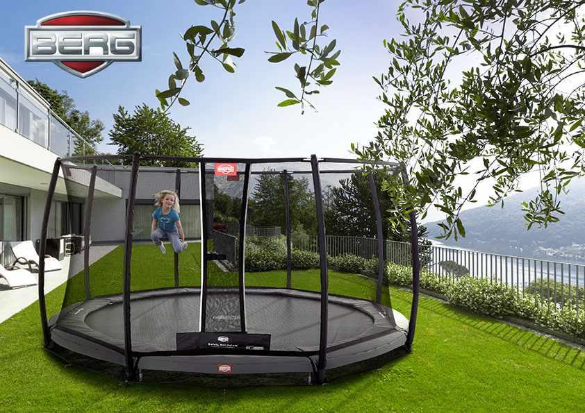 BERG inground champion trampoline safety net delux 14 ft
