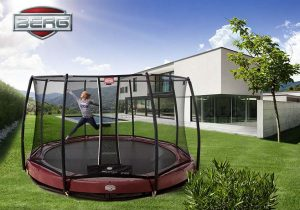 BERG Elite inground trampoline with safety t series net