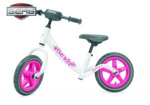 berg biky pink white balance bike