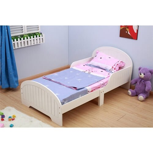 babylo bailey toddler bed white