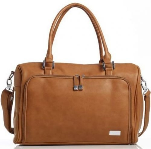 Isoki Double Zip Satchel NAppy Bag Redwood Chestnut