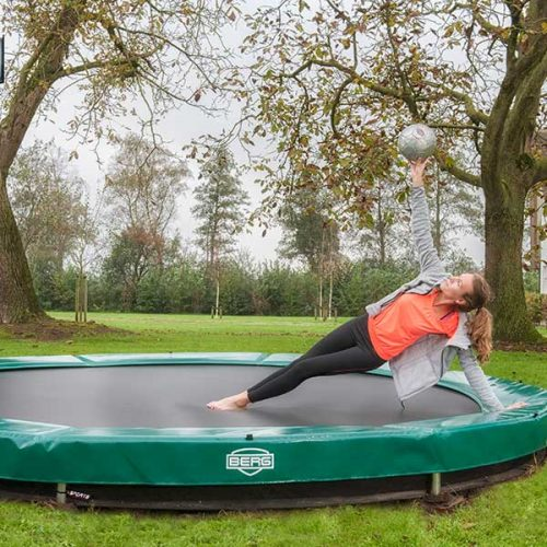 BERG InGround Elite Trampoline - Green