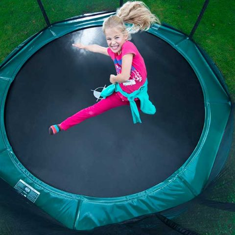 BERG Elite Regular Trampoline with Deluxe Safety Net - Green