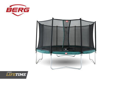 BERG Favorit Trampoline Green with Comfort Safety Net