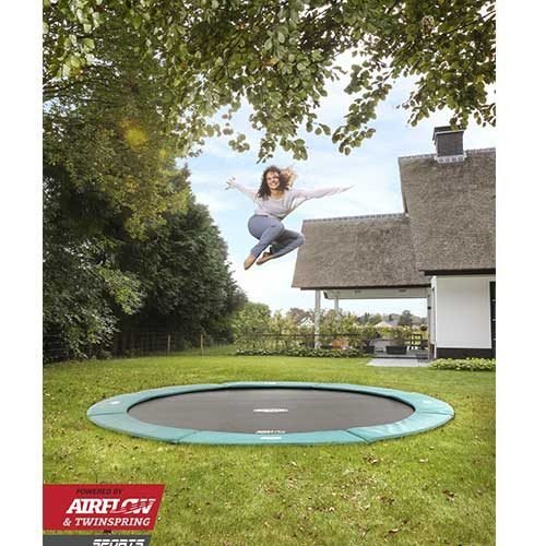 BERG Flat Ground Champion Trampoline - Green