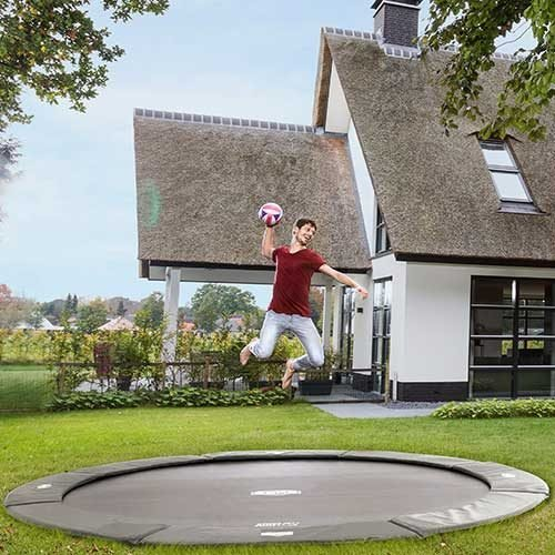 BERG Flat Ground Champion Trampoline - Grey