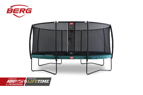 BERG Grand Champion Trampoline with Safety Net Deluxe - Green