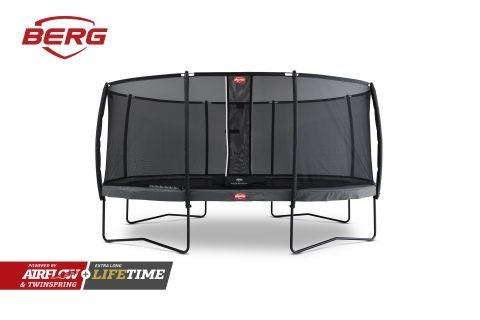 BERG Grand Champion Trampoline 520 with Safety Net Deluxe - Grey