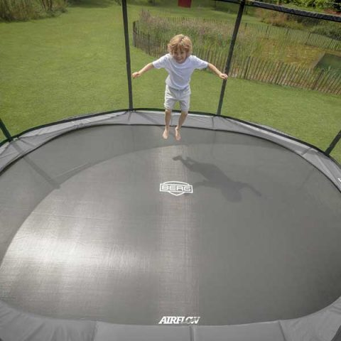 BERG Grand Champion Regular Trampoline with Safety Net Deluxe - Grey