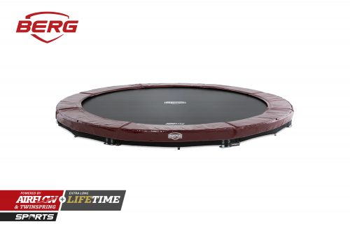 BERG InGround Elite Trampoline - Red