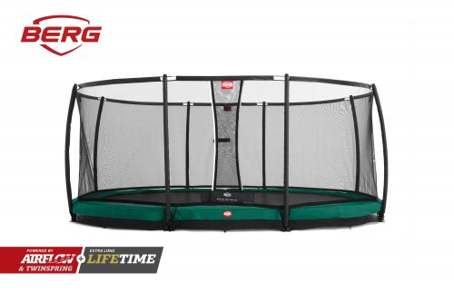 BERG InGround Grand Champion Trampoline - Green