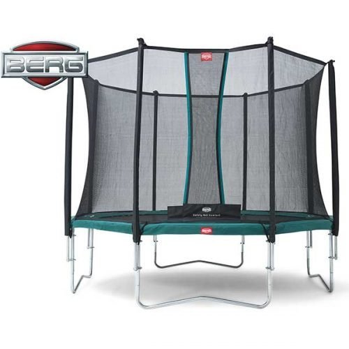 BERG Favorit Regular Trampoline Green with Comfort Safety Net