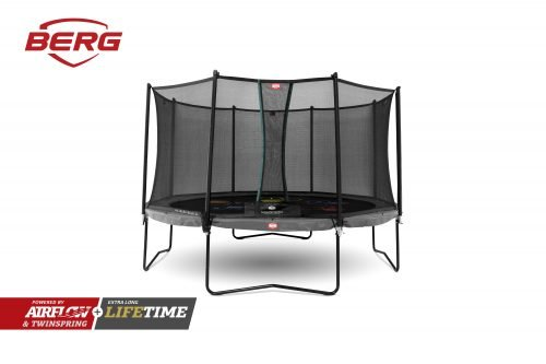 BERG Champion Trampoline 14ft (430) Grey Levels with Comfort Safety Net