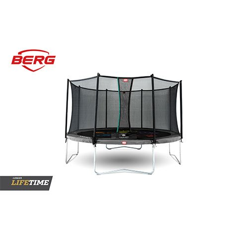 BERG Favorit Regular Trampoline 14ft (430) Grey Levels with Comfort Safety Net