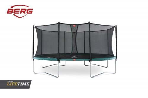 BERG Grand Favorit Trampoline 520 Green & Safety Net Comfort