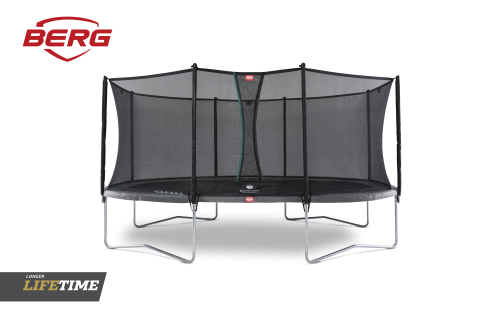 ERG Grand Favorit Trampoline Regular 520 Grey & Safety Net Comfort