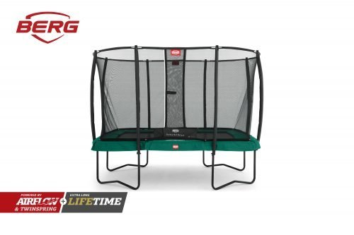 BERG Ultim Champion 330 Trampoline with Safety Net Deluxe - Green