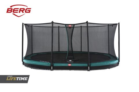 BERG In Ground Grand Favorit Green with Comfort Safety Net