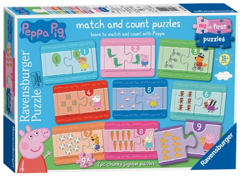 Ravensburger Peppa Pig Match and Count Puzzle