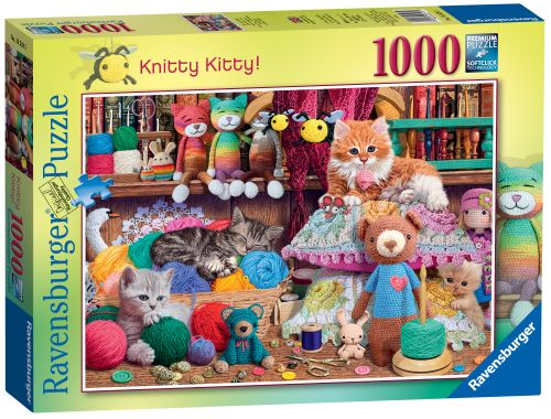 Ravensburger Knitty Kitty Puzzle 1000pc