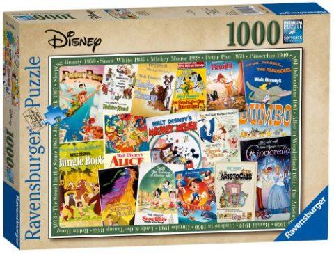 Ravensburger Disney Vintage Movie Posters Puzzle 1000pc