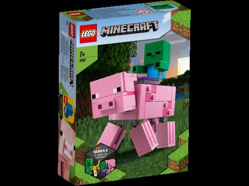 LEGO Minecraft BigFig Pig with Baby Zombie Figures Set 21157