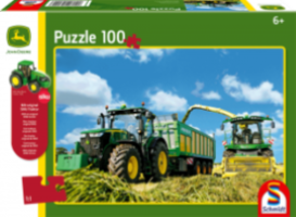 John Deere: 7310R Tractor & Harvester (100pc) inc. SIKU model Puzzle