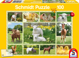 Schmidt Farm Animals Collage Jigsaw Puzzle (100pc)