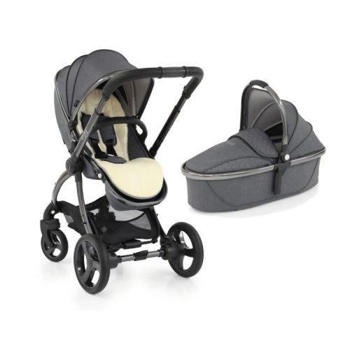 Egg 2 Stroller , Carrycot & Grey Fleece Liner - Quartz