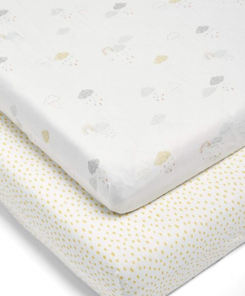 Mamas & Papas Cotbed Fitted Sheets (Pack of 2)- Dream Upon A Cloud