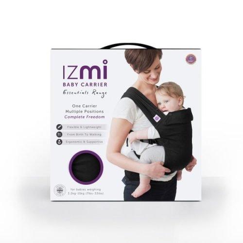 IZMI Baby Carrier Essentials Range - Black