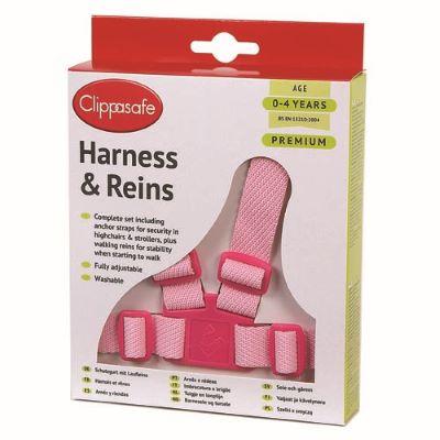 Clippasafe Harness Reins - Pink