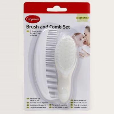 Clippasafe Baby Brush & Comb Set