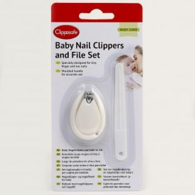 Clippasafe Nail Clippers & File Set