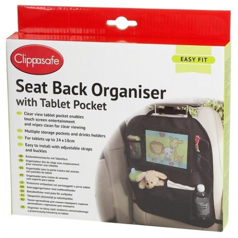 Clippasafe Seat Back Organiser with Tablet Pocket