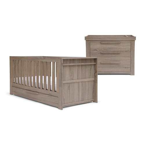 Franklin 2 Piece Cot Bed Set with Dresser - Grey Wash